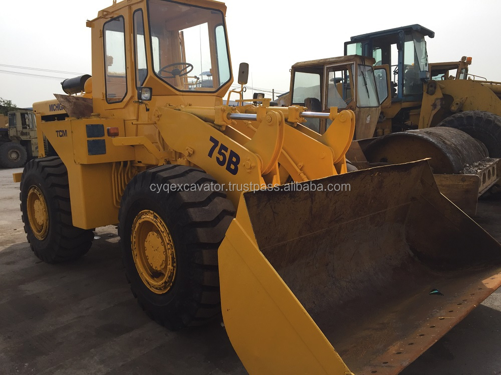 Japan Used TCM75B loaders for sale Michigan75B wheel loader,TCM870 Loader