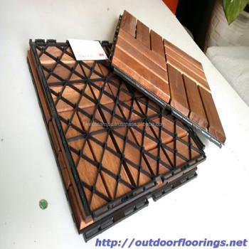 Outdoor Furniture Diy Interlock Wood Floor Tile For Garden Balcony Pool