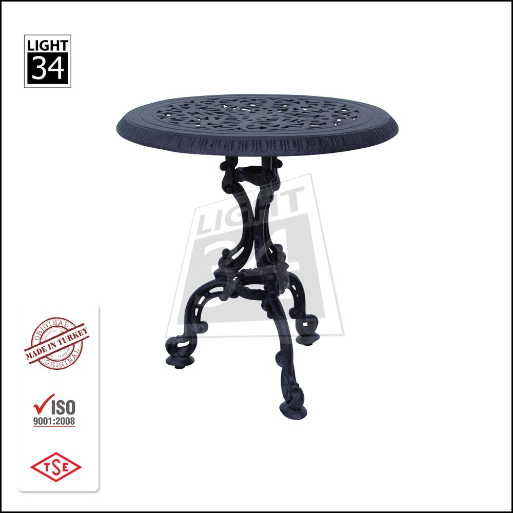 Cast Aluminum Round Restaurant Table Garden Patio Bistro Table Outdoor Coffee Table