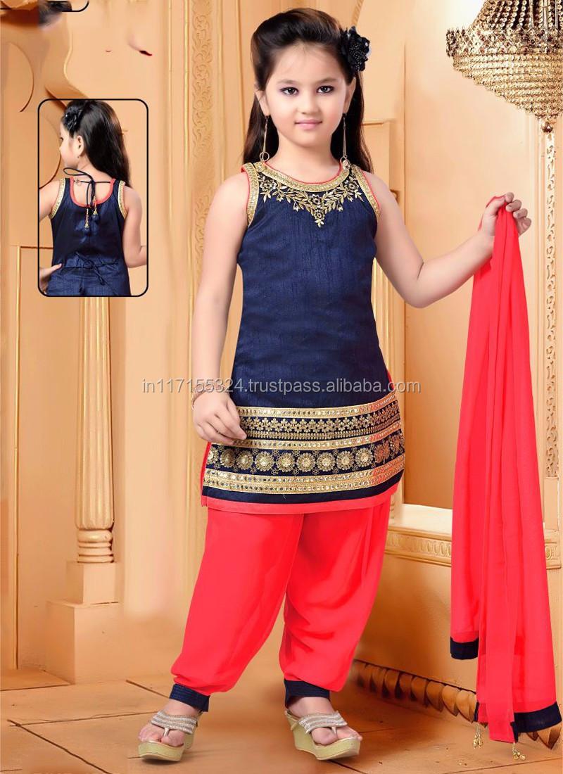 Fashion Cute Girls Party Wear Dress Kids Wear Surat ...