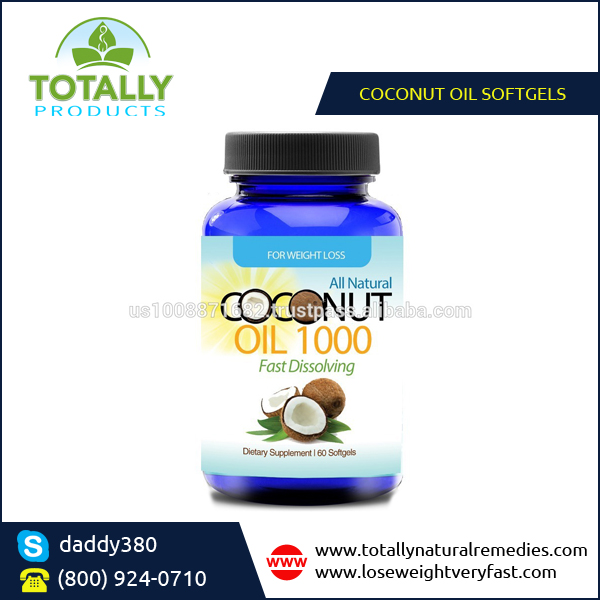 Premium Quality 1000mg Softgels Organic Coconut Oil Dietary Supplements