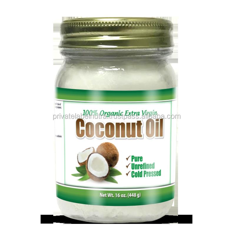 Non - Gmo 100% Pure (16oz / 448g) Coconut Oil Organic Virgin