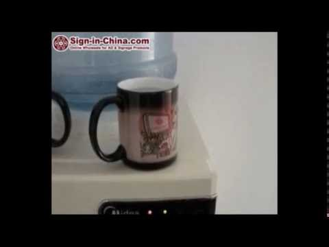 Color Changing Process of 11OZ Blank Sublimation Color Changing Magic Cup