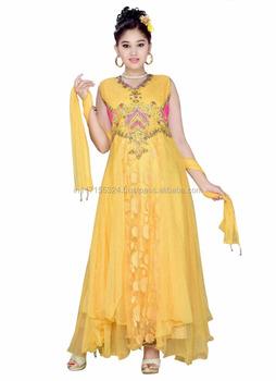d58828049 Festival especial nuevo diseño anarkali para las niñas-indio étnico para  niños niñas vestido Moda