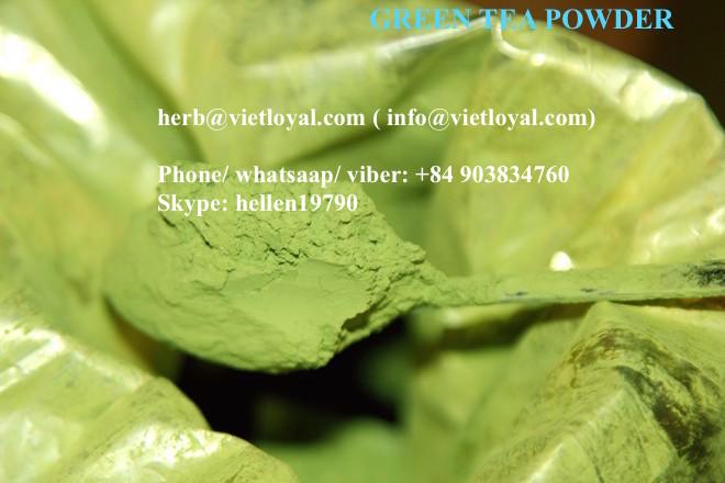Tea Powder Natural Green Colour