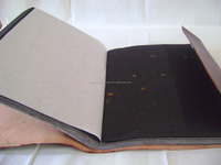Handmade Brown Plain Stone Stoned Leather Photo Album Scrapbook Gift Diary Large Blank Book Wholesale 10 by 13
