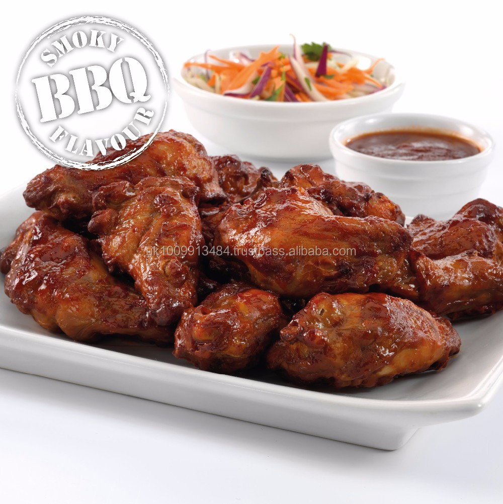 Halal Frozen BBQ Chicken Wings (Marinated)