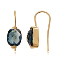 14K Gold Dangle With London Blue Topaz Gold Jewelry Wholesale India