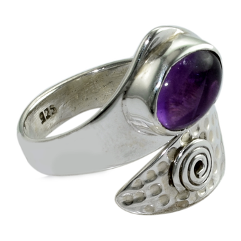 Antique design amethyst ring nature gemstone silver ring exporter 925 sterling silver ring jewelry wholesale