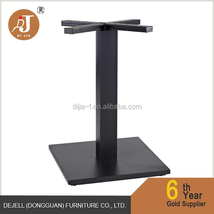 Heavy Industrial Black Metal Pedestal Table Base For Marble Table