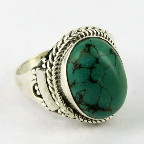 Branding New Listing Turquoise !! 925 Silver Ring with Gemstone Fine Handcrafted Jewelry