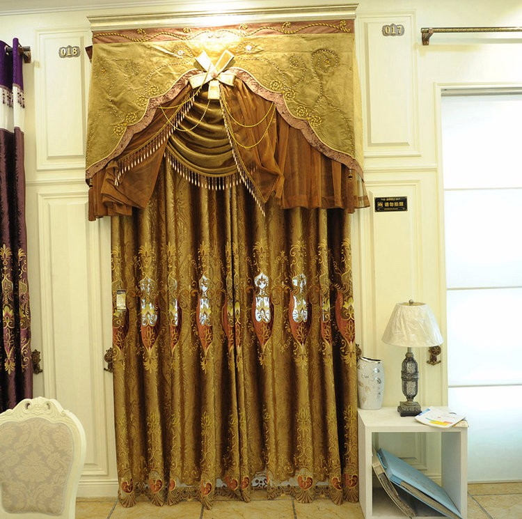 Burnt Orange Embroidered Curtains Dining Room Window Treatments - Buy Burnt  Orange Curtains,Embroidered Curtains,Dining Room Window Treatments Product  ...