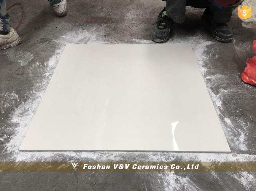 600x600mm Hochglanz Bodenfliese, Weiß Carara Fliesen, Marmor Fliesen