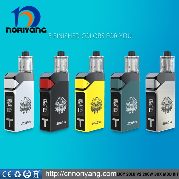 NEW vape mod from IJOY hot new IJOY Solo V2 200w box tc mod
