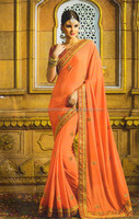 online shopping indian latest party wear georgette embroidery work sarees