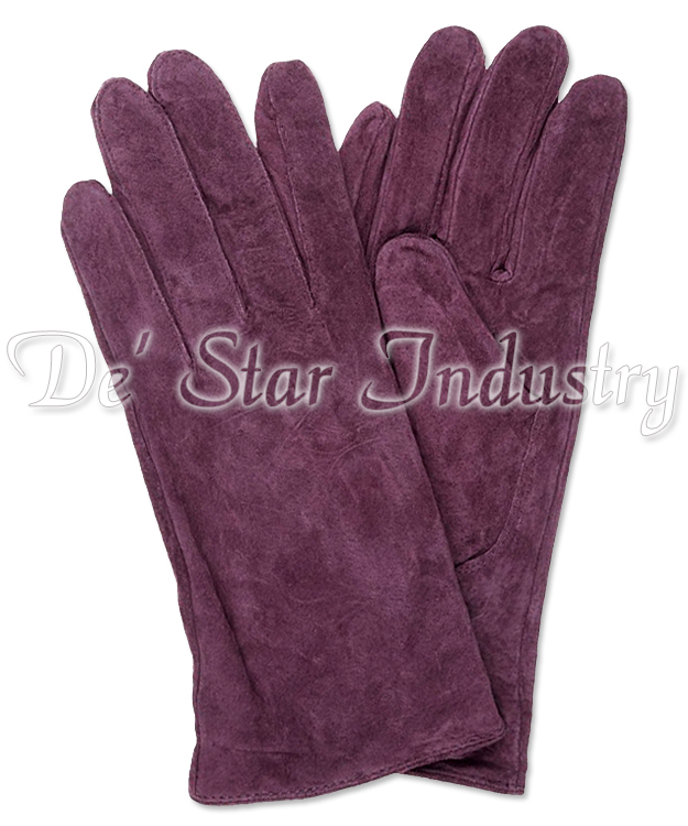 High Quality Goat Suede Leather Dressing Gloves For Women Vogue