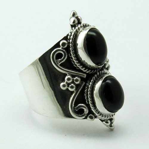 Go For Right !! Black Onyx 925 Sterling Silver Ring, Fine Silver Jewelry, Online Silver Jewelry