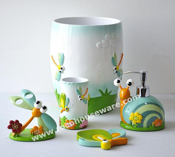 Kids Polyresin Bathroom Accessories