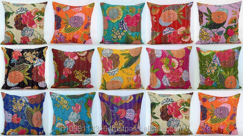 Wholesale Latest 2015 Designer Bird Print Cotton Kantha Sofa