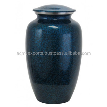 Brass Classic Blue Cremation Urns For Funeral Supplies Products