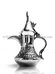 Dollhouse Miniature Tableware Tea Set//Coffee Set Metal Silver 8 PCS DM002C