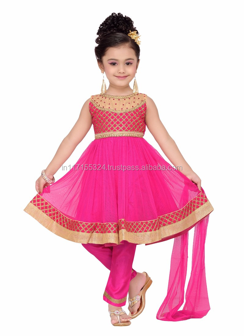 fashion kids party wear girl dress - 2016 cheap india kids clothes