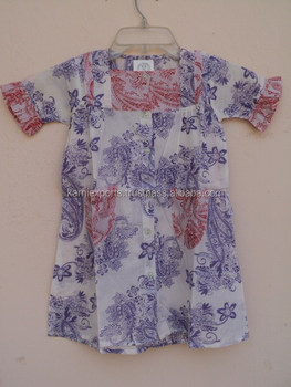 4b3f5d852ee3 Casual Looking Kids Wear Top s   Blouses In Cotton Voile Fabric ...