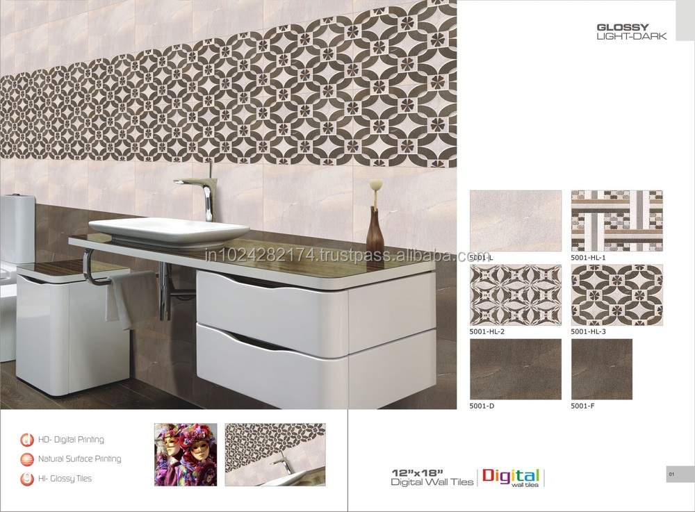 Kitchen Tiles Highlighters bathroom and kitchen ceramic digital wall tiles 5004 - buy