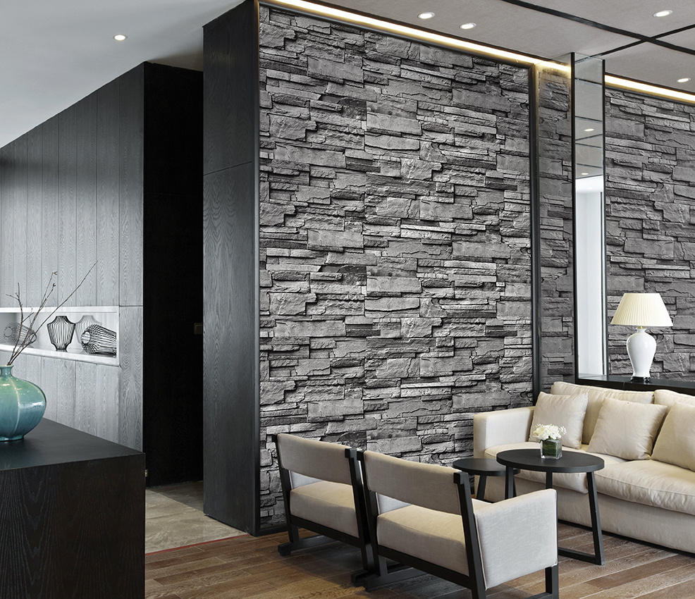 Brick wallpaper vinly wallpaper 3d wall paper korean for 3d brick wall covering