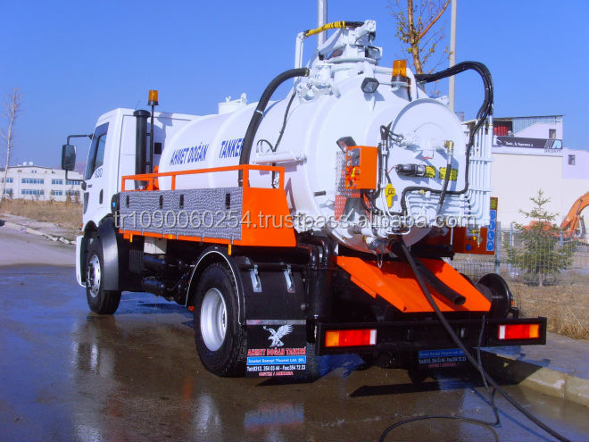 Sewage Suction Tanker Truck (with Jetting)