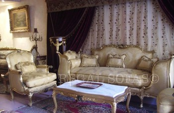 Genial Damask Gold Sofa / Couch Suite Chaise Longue Salon Set Living Room Furniture  Set Italian French