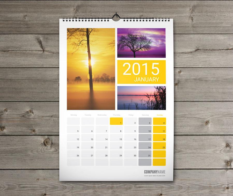 Kustom Pencetakan Tradisional Fook Kalender Dinding