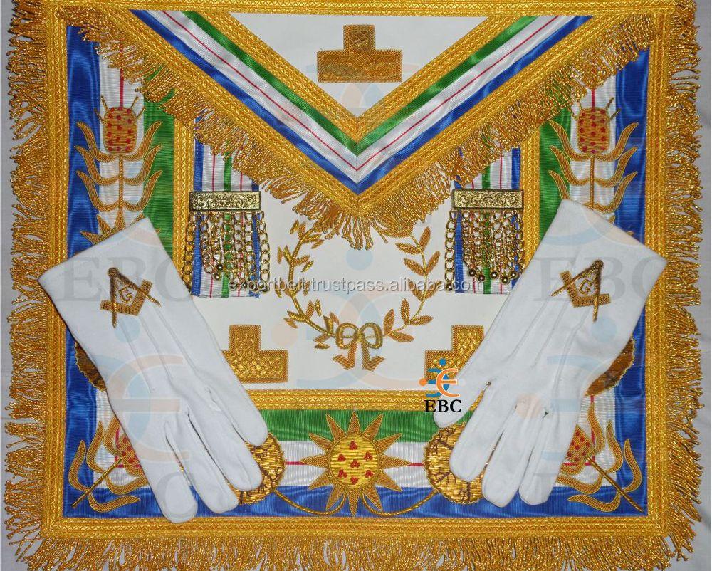 Masonic And Fraternal Regalia Apron,Sash,Collar,Gloves,Badges And ...