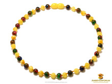 Highest quality gemstone and Baltic amber baby teething necklaces