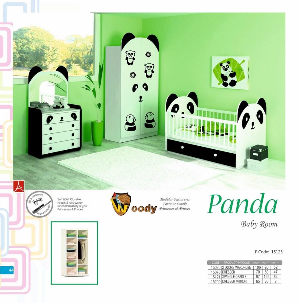 Chambre Bébé Panda : Panda chambre de bébé jeu avec commode garde robe
