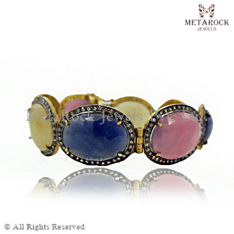 sapphire round wear product diamond shape gold party designer gemstone supplier ruby bracelet emerald pave