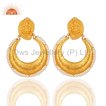 c1aabbfbb New Ethnic Designer Wedding Earring 925 Silver Gold Plated Traditional  Earrings Manufacturer of Indian Womens Jewelry