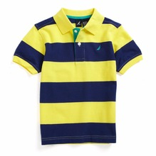 Rayures Polo T-shirt Pour Hommes