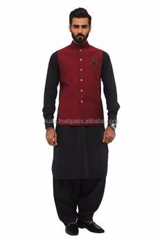 Mens Wedding Waistcoat Pakistani Traditional Mens Suits