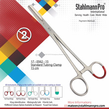 Single Use Disposable Standard Tube Clamp Forceps 150mm