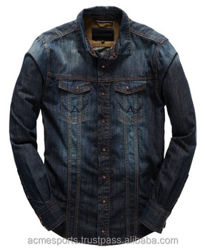 Fashion Designer Shirts | Denim Shirts 2018 New Fashionable Denim Shirts Vintage Blue Denim