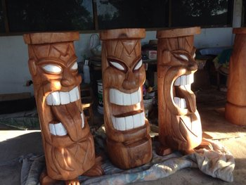 hand craft tiki wooden totem high quality hand making craft buy