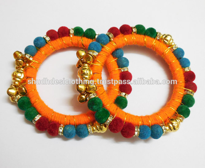 funky shopping detail navratri fashion special bangles product velvet online buy