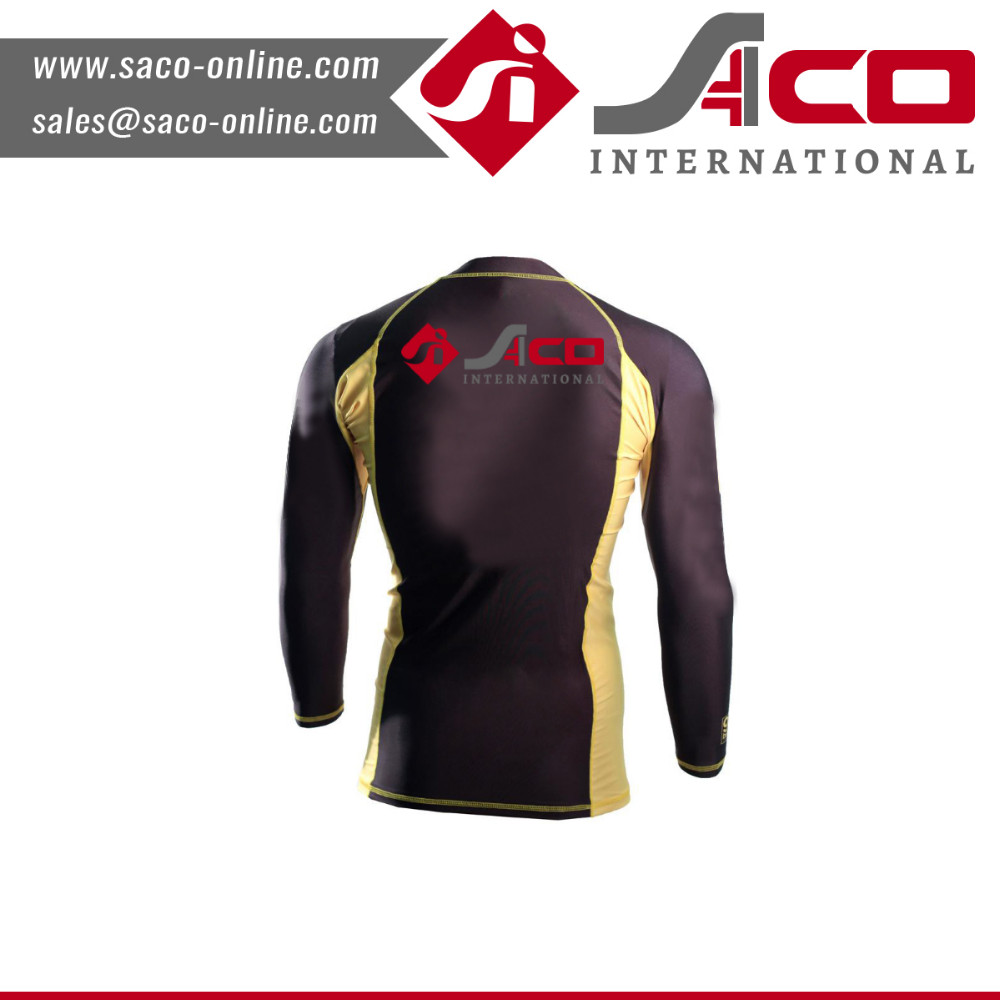 Rash guard shirt design custom price mens fitness
