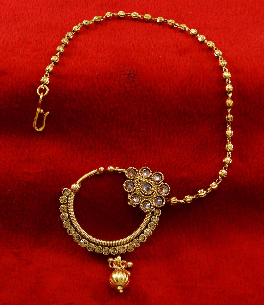 Ethnic Traditional Bridal Nose Ring Designer Nath Hoop Wedding ...