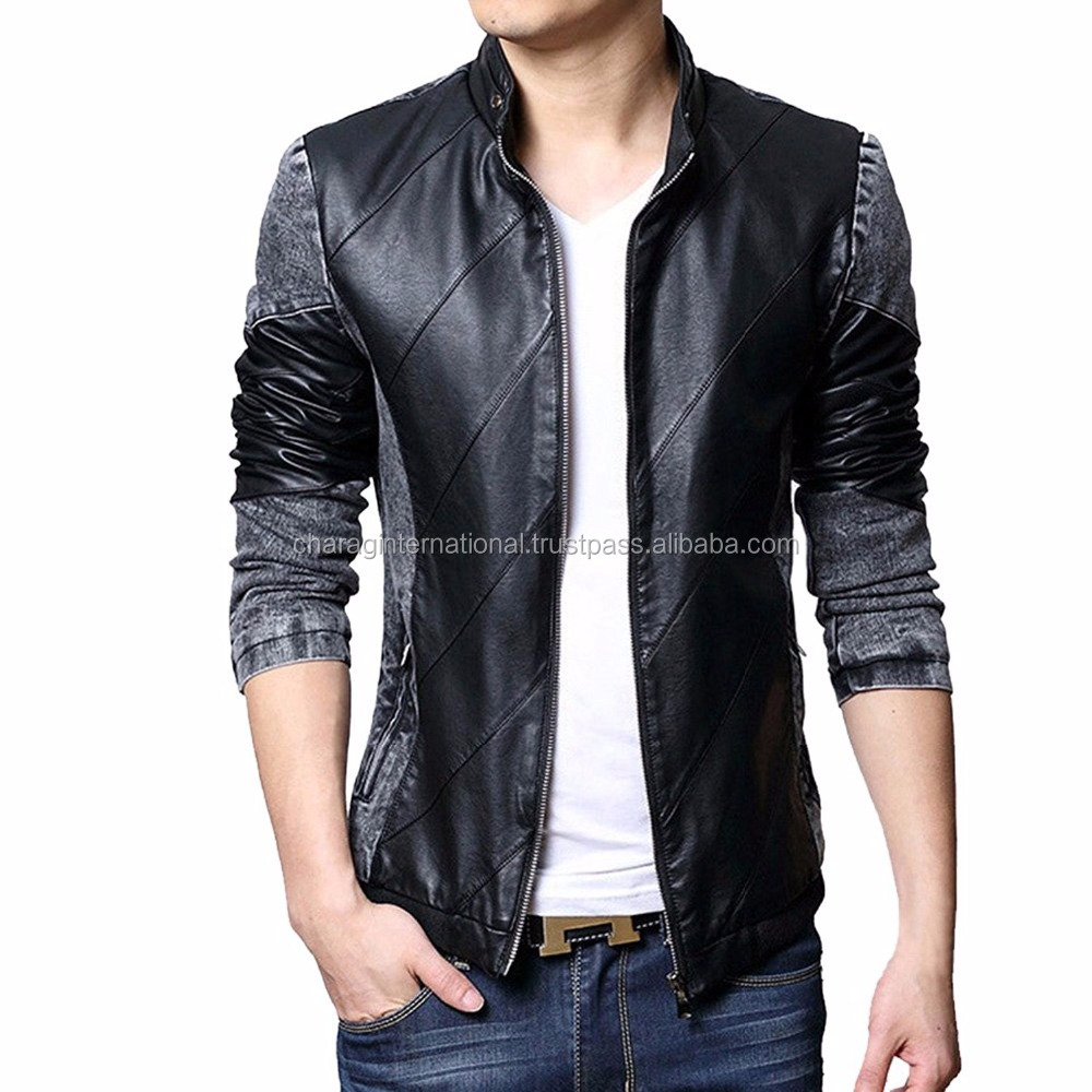 Pakistan Sialkot Good Quality Wholesale Low Price Fashion Black leather jackets manufacturers