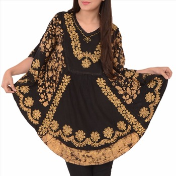 Sns Kraag V Hals Rayon Kaftan Batik Poncho Kurti Top Buy Kraag