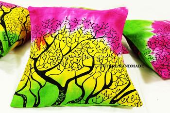 Tie Dye Cushion Cover Popular India Handmade Home Decor Tree Of Life