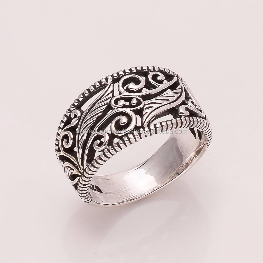 925 Solid Sterling Fine Silver Flower Dizain Ring - Buy 925 Sterling ...