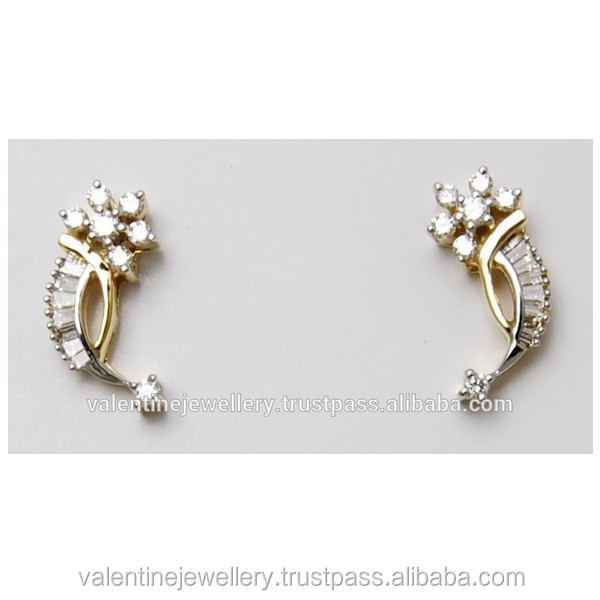 59c1eaa59 Cluster Design Diamond Earring Designer - Buy Fancy Design Gold ...